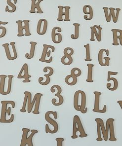 Letras y Números de madera