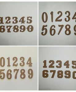 Numeros de madera del 0 al 9