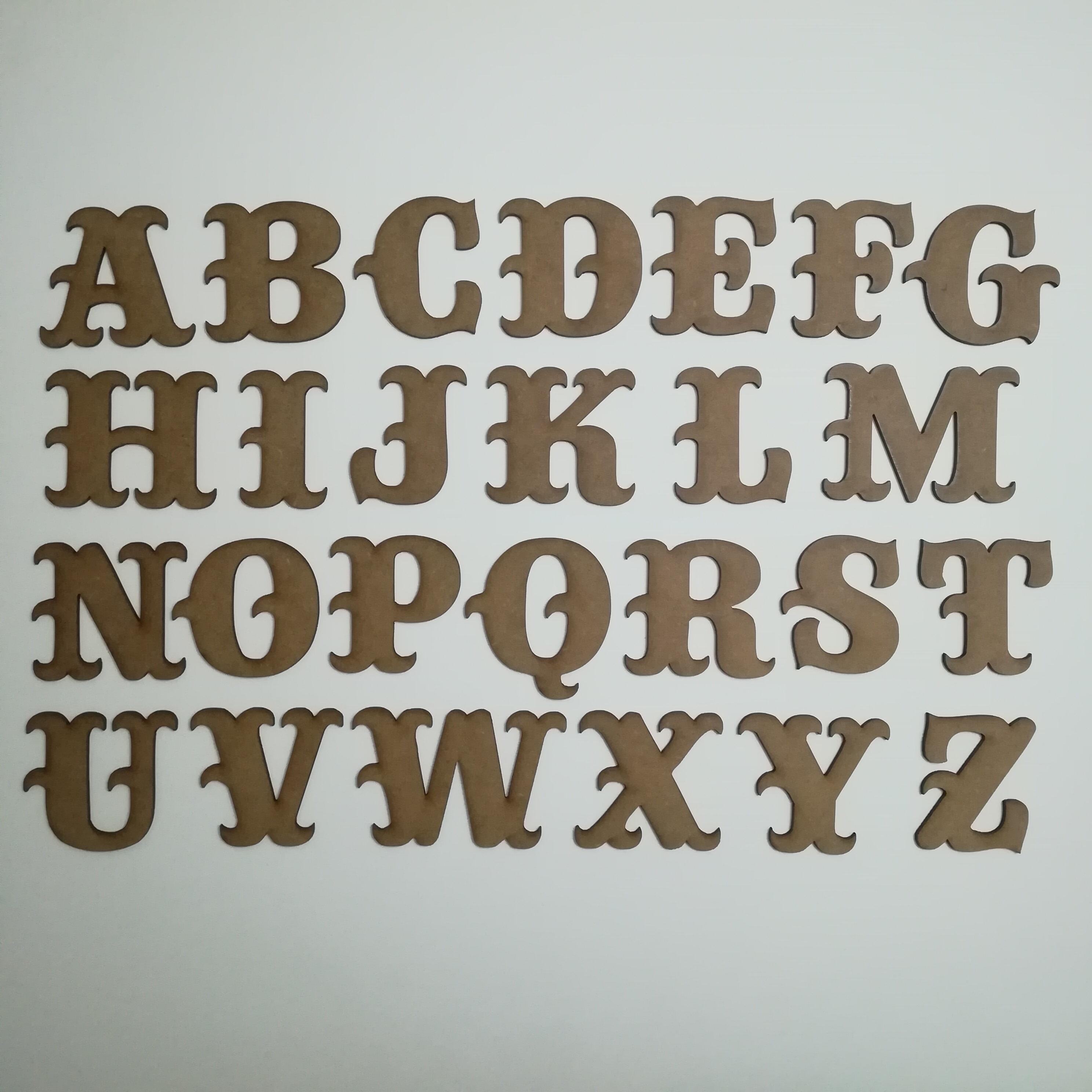 Abecedario tipografía vintage