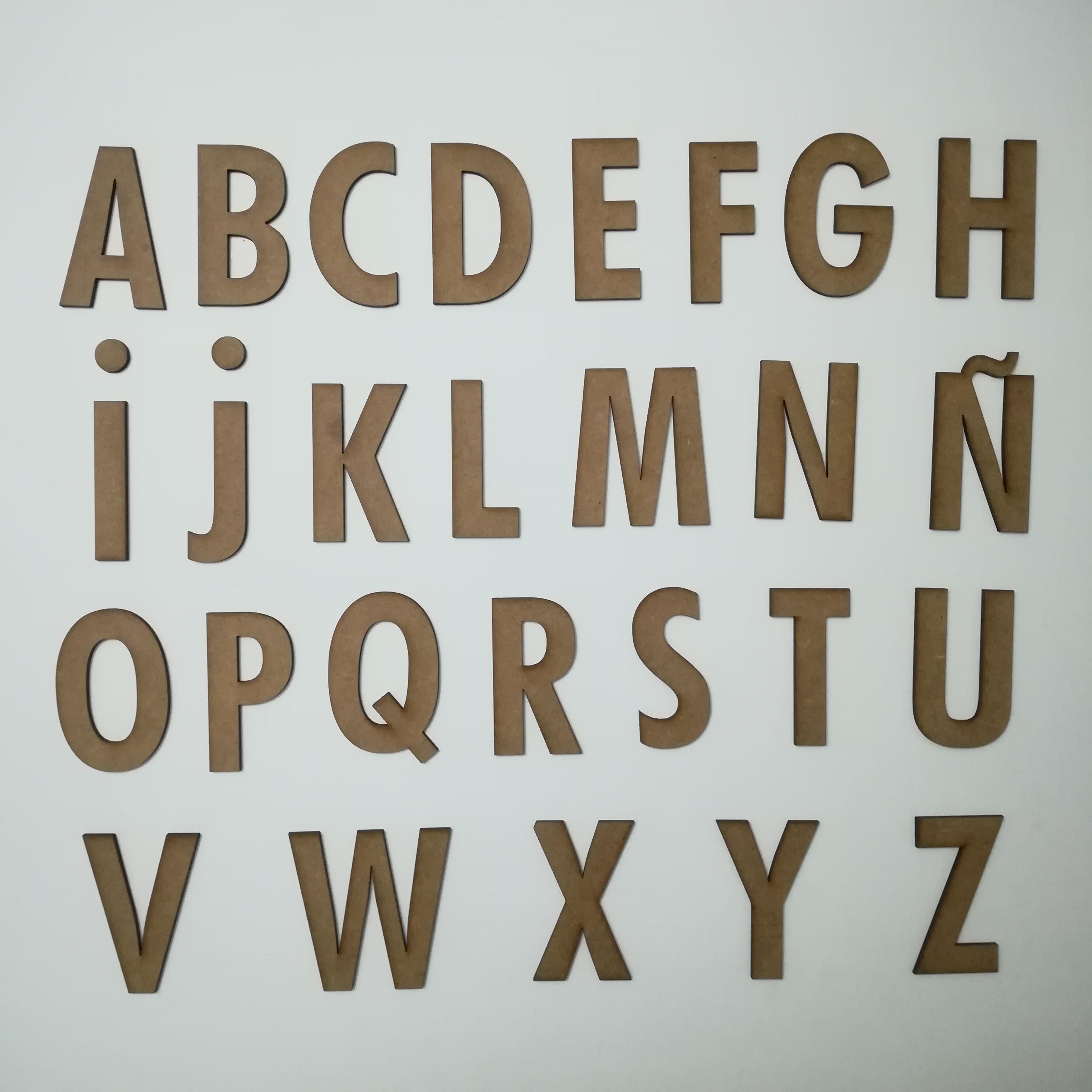 Abecedario tipografia capital