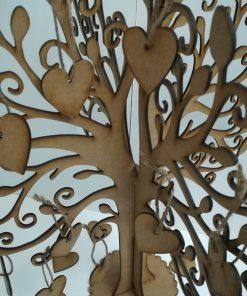 Arbol de los deseos de 4 ramas.