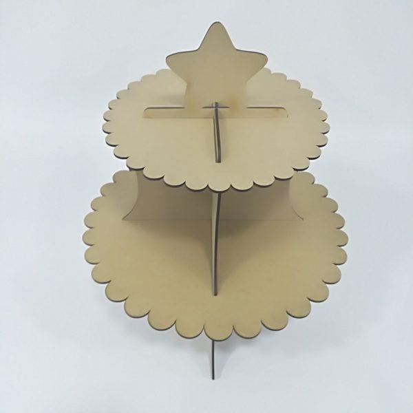 Base stand para cupcakes de estrella