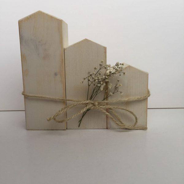 Casitas norte as de madera natural blanco alba la for Adhesivos de vinilo decorativos