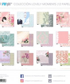COLECCION 12 PAPELES LOVELY MOMENTS