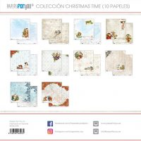 COLECCION 10 PAPELES SCRAP CHRISTMAS TIME