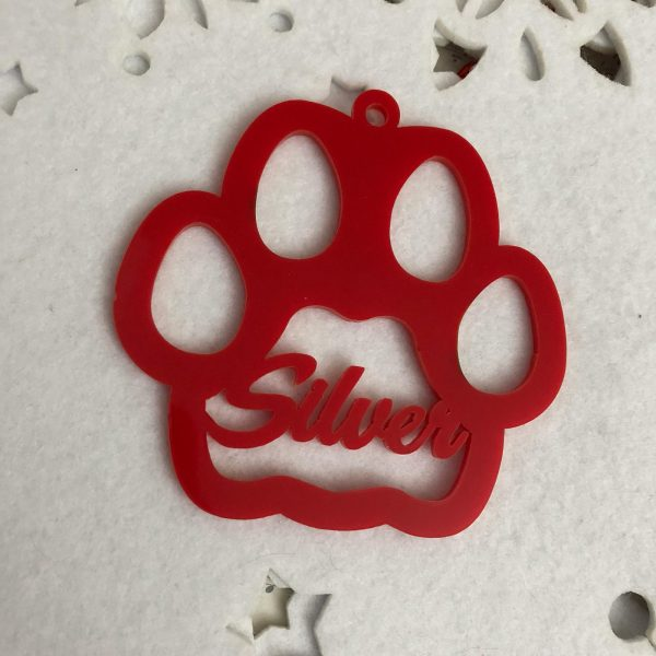 """Bolas de Navidad de metraquilato rojo para mascotas """"gatos"""""""
