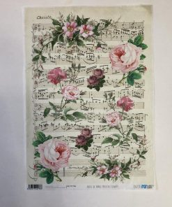 PAPEL DE ARROZ MUSICAL FLOWERS