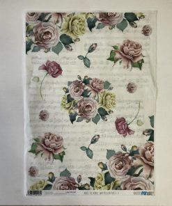 PAPEL DE ARROZ WATER COLORS ROSES II
