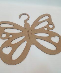 Percha modelo mariposa personalizable