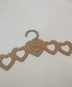 Percha modelo corazones personalizable