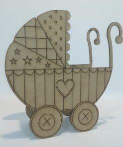 Carrito de bebé deluxe para bautizos