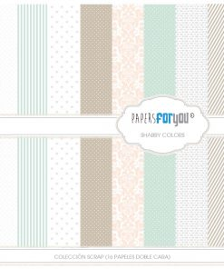 PAPEL SCRAP COLECCION SHABBY COLORS