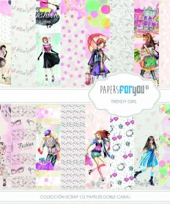 PAPEL SCRAP COLECCION TRENDY GIRL