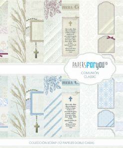 PAPEL SCRAP COMUNION CLASICO