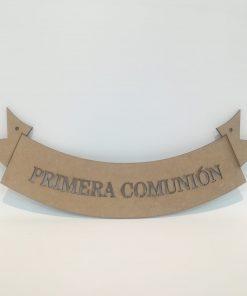 Cartel madera Primera Comunion
