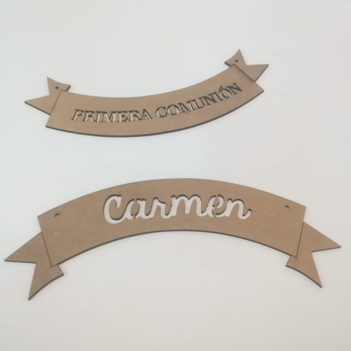 Cartel de madera personalizado