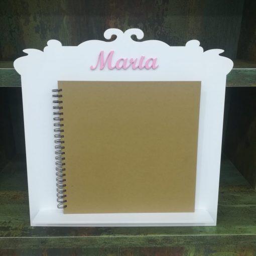 Atril de madera para libro de firmas